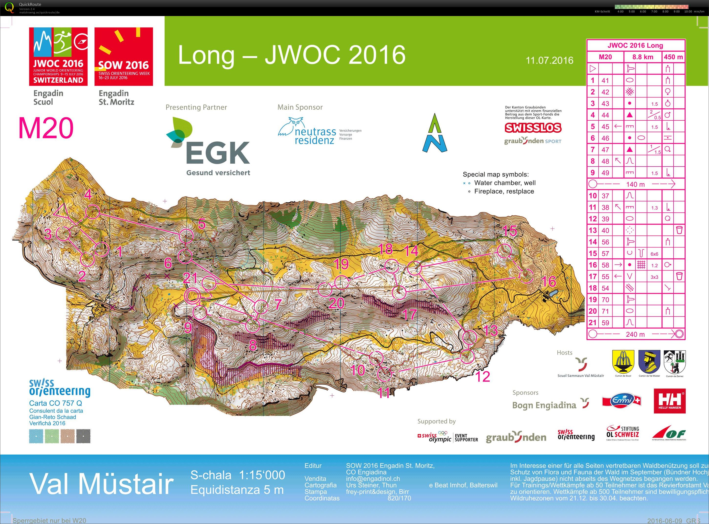 Junior World Orienteering Championships Long (11/07/2016)