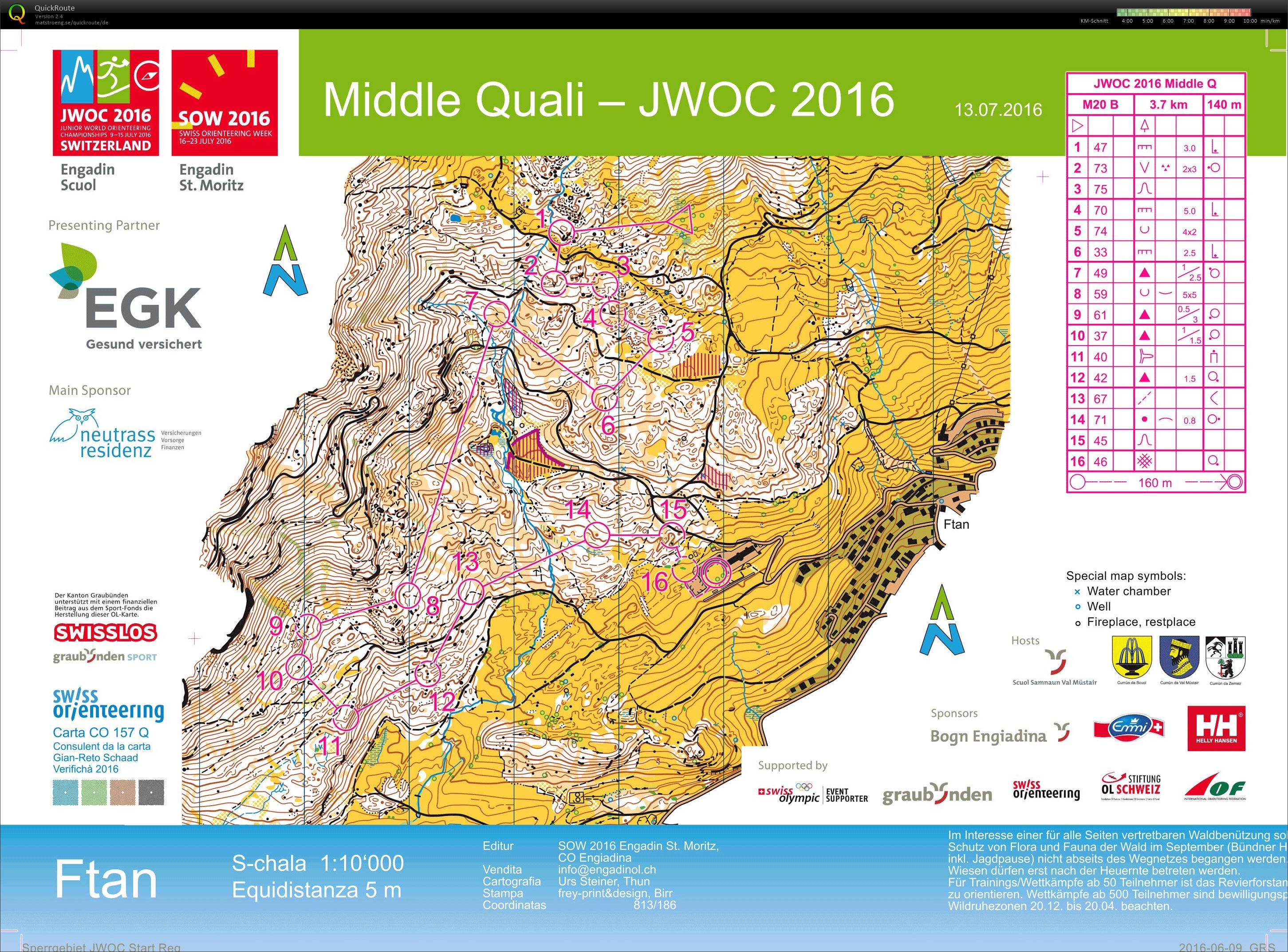 Junior World Orienteering Championships Middle Qualification (13/07/2016)