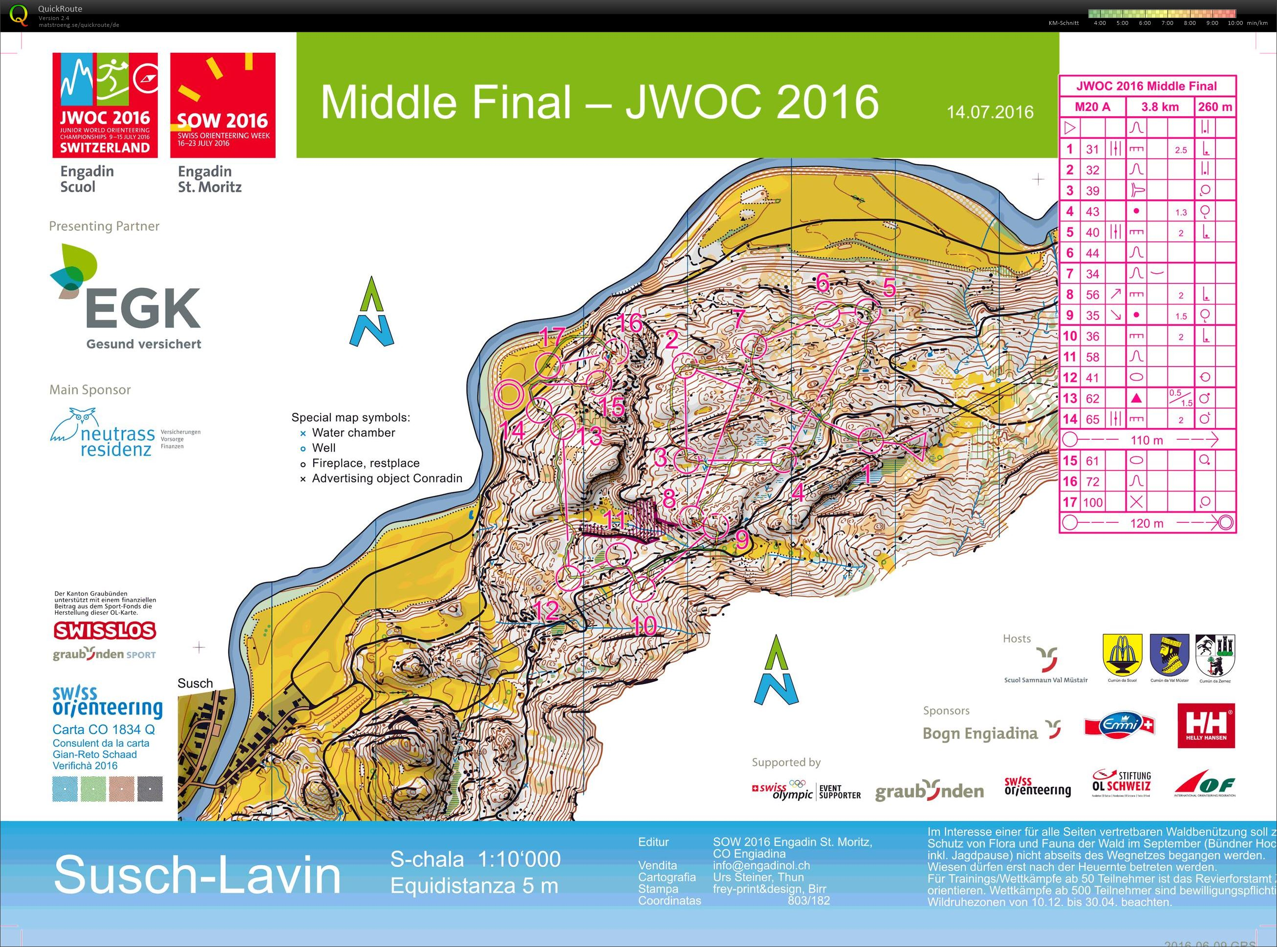 Junior World Orienteering Championships Middle Final (14/07/2016)