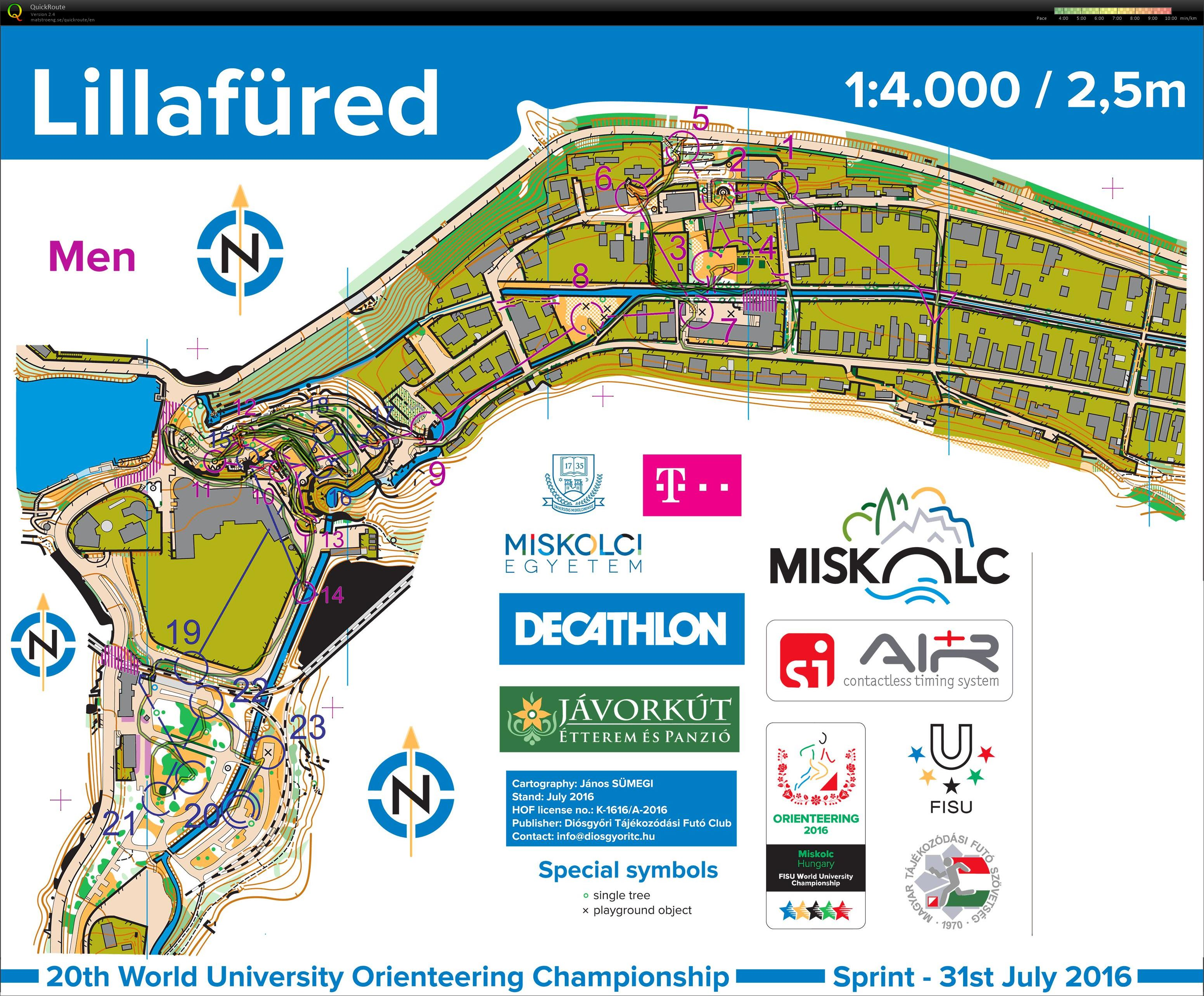 World University Orienteering Championships Sprint (31/07/2016)